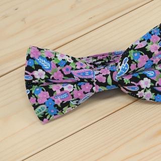 Недорогая модная галстук-бабочка цветочного цвета из плотной хлопковой ткани