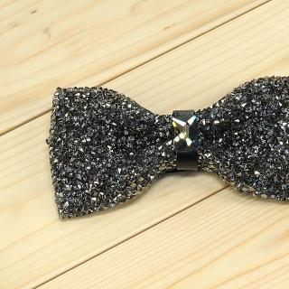 Недорогая модная галстук-бабочка из плотной хлопковой ткани с узором в виде страз