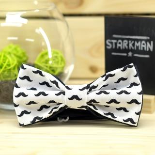 Купить галстук-бабочку с черными усами