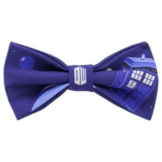 Доктор Кто галстук-бабочка синий