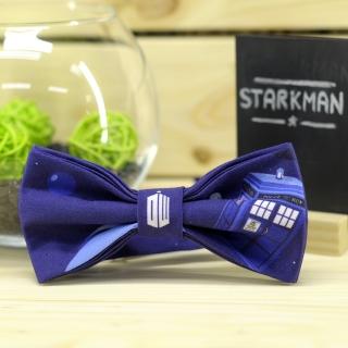 Синий галстук-бабочка Доктор Кто