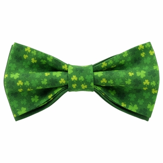 Купить зеленый галстук-бабочку с клевером
