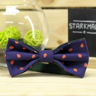 Купить синий земляничный галстук-бабочку