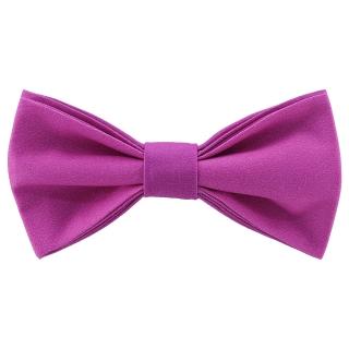 Яркая галстук-бабочка фиолетового цвета