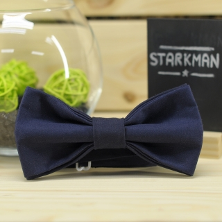 Купить галстук-бабочку темно-синего цвета
