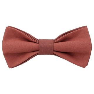 Яркая галстук-бабочка терракотового цвета
