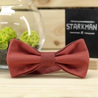 Купить галстук-бабочка терракотового цвета