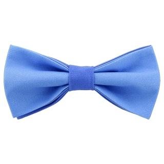 Стильная галстук-бабочка синего цвета