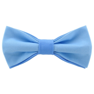 Яркая галстук-бабочка голубого цвета