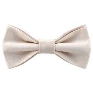 Стильная галстук-бабочка бежевого цвета