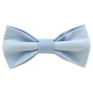 Стильная галстук-бабочка голубого цвета