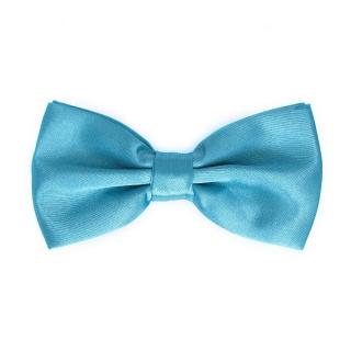 Бирюзовый галстук-бабочка однотонный