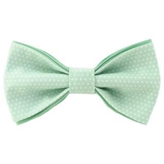 Бирюзовый галстук-бабочка в горошек