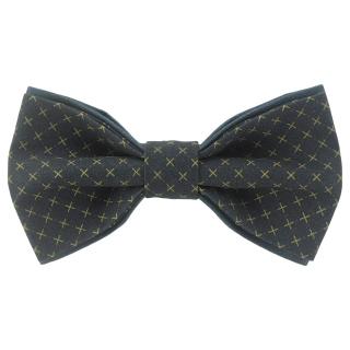 Купить темную галстук-бабочку с плюсами
