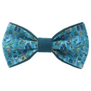 Совиная галстук-бабочка бирюзовых тонов