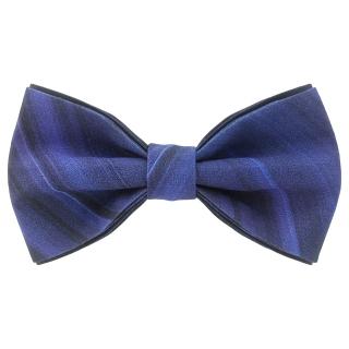 Темно-синий галстук-бабочка с полосами