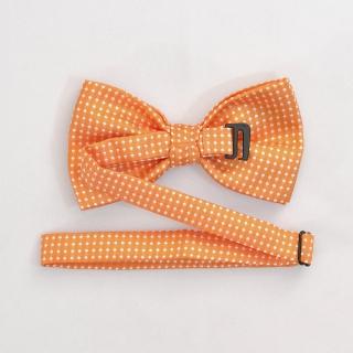 Купить оранжевую бабочку в горошек