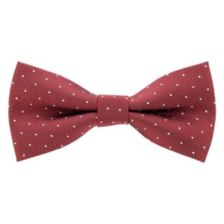 Купить бордовый галстук-бабочку в точку