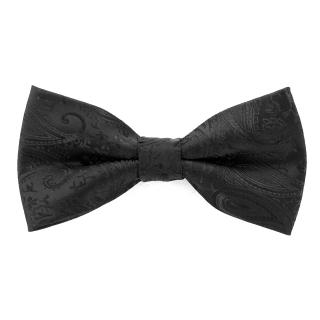 Черный галстук-бабочка пейсли