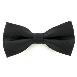 Купить черный галстук-бабочку в полоску