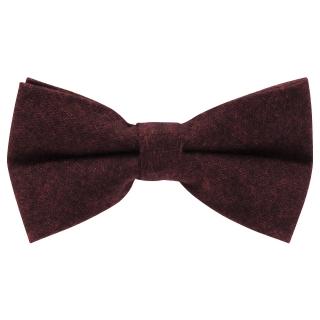 Купить темно-бордовый галстук-бабочку