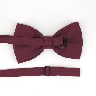 Винный галстук-бабочка на застежке