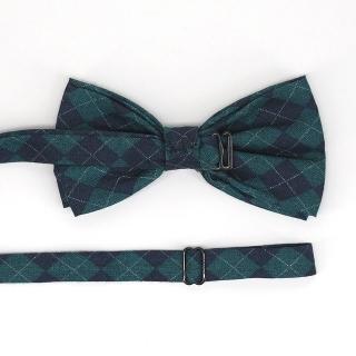 Купить галстук бабочку в зеленую клетку