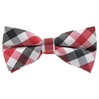 Купить галстук-бабочку в красную клетку