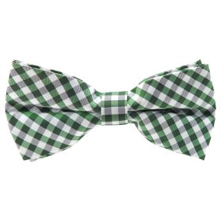 Купить галстук-бабочку в зеленую клетку