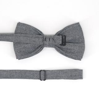 Серый галстук-бабочка из хлопка