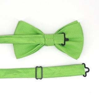 Зеленая фактурная бабочка на застежке