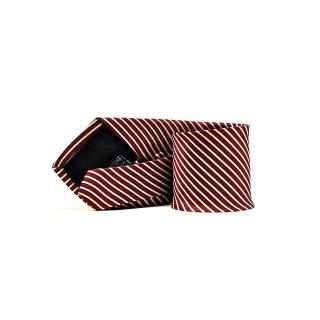 Галстук бордового цвета в белую полоску