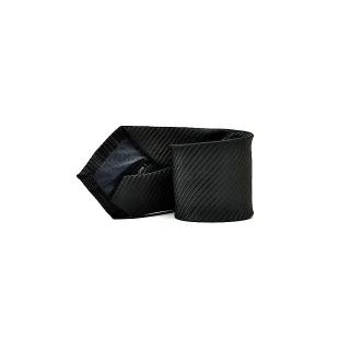 Мужской галстук черного цвета в полоску