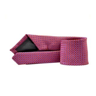 Мужской галстук фиолетового цвета с принтом
