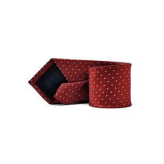 Мужской галстук красного цвета в точку