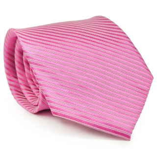 Галстук #201 (розовый в полоску)