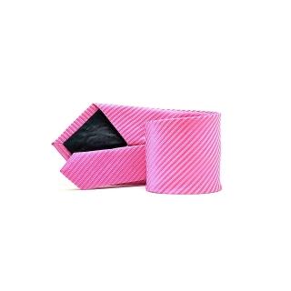 Мужской галстук розового цвета в полоску