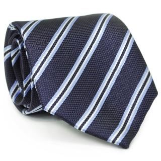 Галстук #206 (синий в полоску)