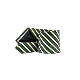 Мужской галстук зеленого цвета в полоску