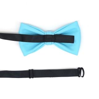 Голубая кожаная галстук-бабочка