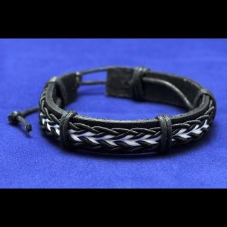 Купить черный кожаный браслет