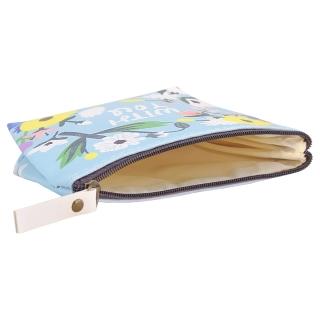 Бирюзовый кошелек с цветочным принтом