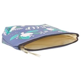 Синий кошелек с цветочным принтом