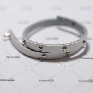 Белый браслет из кожи