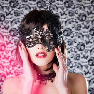 Кружевная металлическая маска Luna Veneziana