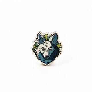 Деревянный значок #062 (волк)