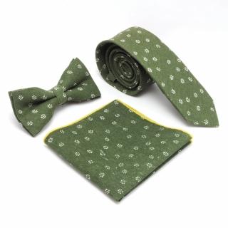 Цветочный набор аксессуаров из галстука бабочки и платка