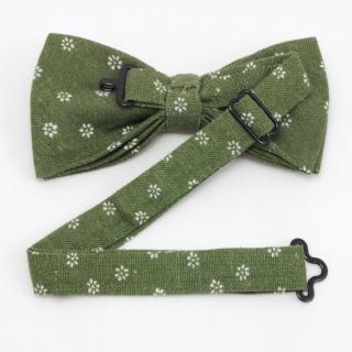 Набор галстук бабочка платок зеленые