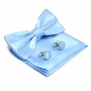 Набор из голубой бабочки и запонок