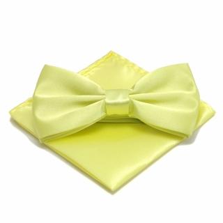 Желтый набор из бабочки и платка